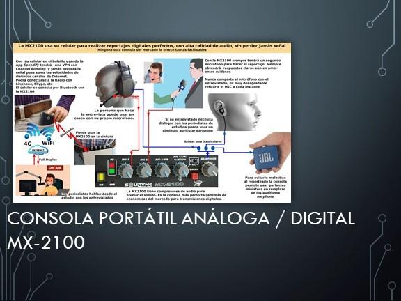 Consola Portátil Análoga/Digital MX-2100